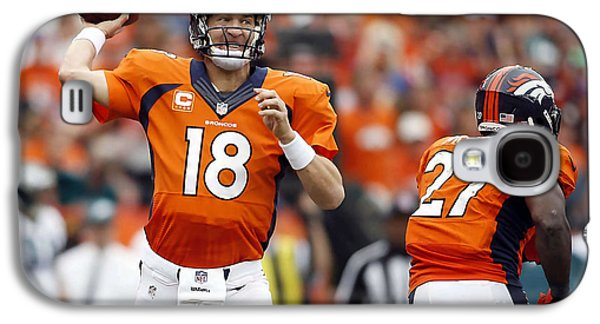 Peyton Manning  Galaxy S4 Case by Marvin Blaine