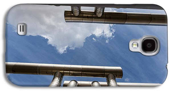 Power Plants Galaxy S4 Cases - Pipes At Nesjavellir Geothermal Power Galaxy S4 Case by Panoramic Images
