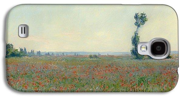 Field. Cloud Paintings Galaxy S4 Cases - Poppy Field Galaxy S4 Case by Claude Monet
