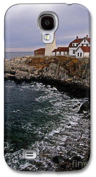 Maine Lighthouses Galaxy S4 Cases - Portland Head Lighthouse Galaxy S4 Case by Skip Willits