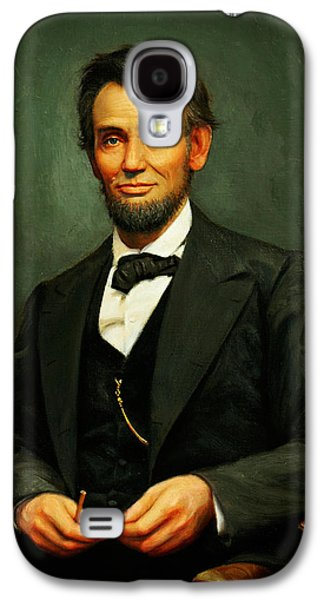 War Is Hell Store Mixed Media Galaxy S4 Cases - President Abraham Lincoln Galaxy S4 Case by MotionAge Designs