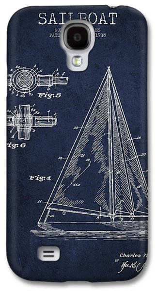 Technical Digital Art Galaxy S4 Cases - Sailboat Patent Drawing From 1938 Galaxy S4 Case by Aged Pixel