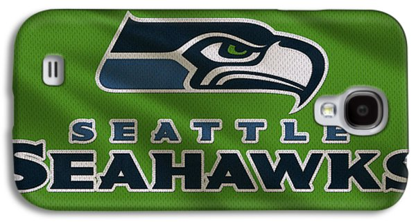 Uniform Galaxy S4 Cases - Seattle Seahawks Uniform Galaxy S4 Case by Joe Hamilton