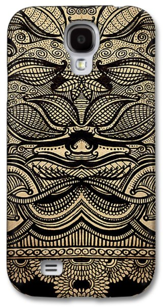 Lines Drawings Galaxy S4 Cases - Sharpie on Cardboard Galaxy S4 Case by HD Connelly