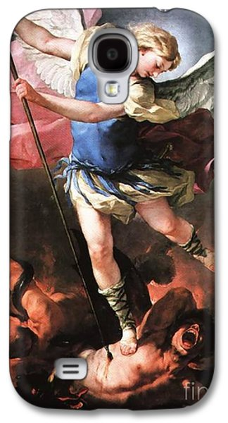 Etc. Paintings Galaxy S4 Cases - St. Michael Galaxy S4 Case by Matteo TOTARO