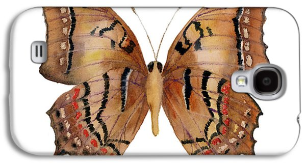 Moth Paintings Galaxy S4 Cases - 62 Galaxia Butterfly Galaxy S4 Case by Amy Kirkpatrick