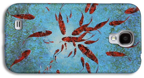 Fish Pond Galaxy S4 Cases - 63 Pesci Rossi Galaxy S4 Case by Guido Borelli