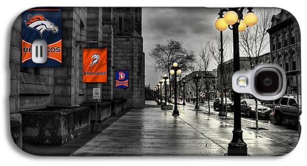 Main Street Galaxy S4 Cases - Denver Broncos Galaxy S4 Case by Joe Hamilton