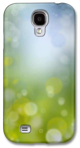 Vertical Digital Art Galaxy S4 Cases - Abstract background Galaxy S4 Case by Les Cunliffe