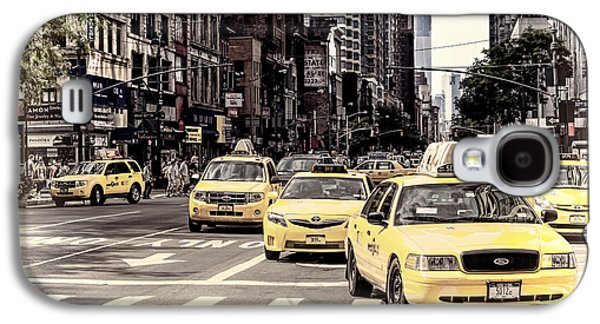 The Americas Galaxy S4 Cases - 6th Avenue NYC Yellow Cabs Galaxy S4 Case by Melanie Viola