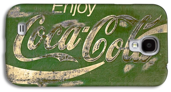 Coca-cola Signs Galaxy S4 Cases -  Coca Cola Sign Grungy Retro Style Galaxy S4 Case by John Stephens