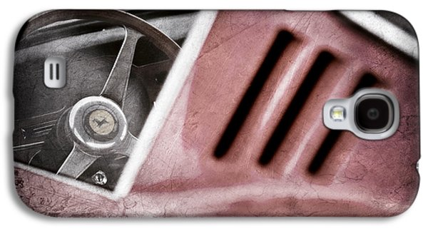 Transportation Photographs Galaxy S4 Cases - 1966 Ferrari 275 Gtb Steering Wheel Emblem Galaxy S4 Case by Jill Reger