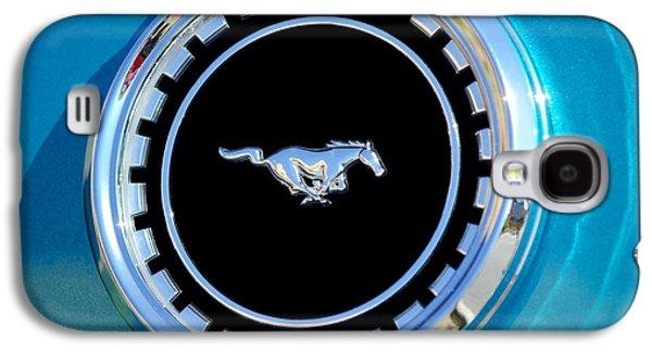 Transportation Photographs Galaxy S4 Cases - 1969 Ford Mustang Mach 1 Emblem Galaxy S4 Case by Jill Reger