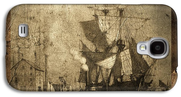 Historic Schooner Galaxy S4 Cases - Blame It On The Rum Schooner Galaxy S4 Case by John Stephens