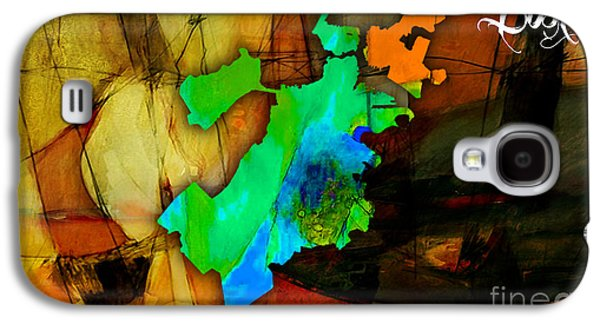 Maps Galaxy S4 Cases - Boston Map Watercolor Galaxy S4 Case by Marvin Blaine