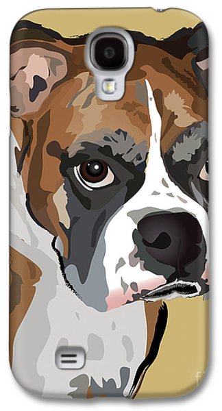 Boxer Dog Portrait Galaxy S4 Case by Robyn Saunders