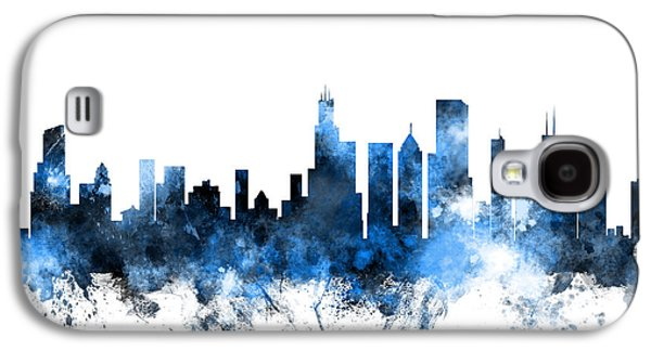 Chicago Illinois Skyline Galaxy S4 Case by Michael Tompsett
