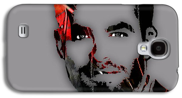 Enterprise Mixed Media Galaxy S4 Cases - Chris Pine Collection Galaxy S4 Case by Marvin Blaine