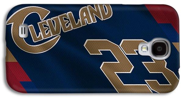Lebron Galaxy S4 Cases - Cleveland Cavaliers Uniform Galaxy S4 Case by Joe Hamilton
