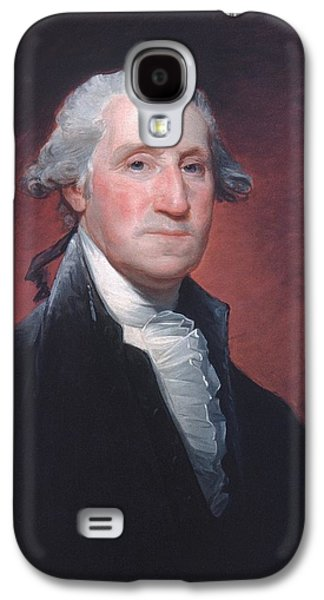 Independence Day Paintings Galaxy S4 Cases - George Washington Galaxy S4 Case by Gilbert Stuart