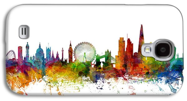 City Digital Art Galaxy S4 Cases - London England Skyline Galaxy S4 Case by Michael Tompsett