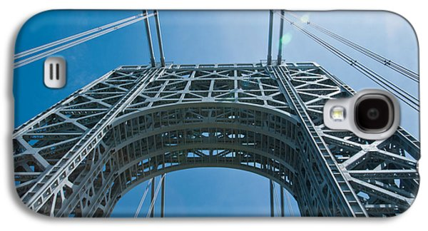Low Angle View Of A Suspension Bridge Galaxy S4 Case by Panoramic Images