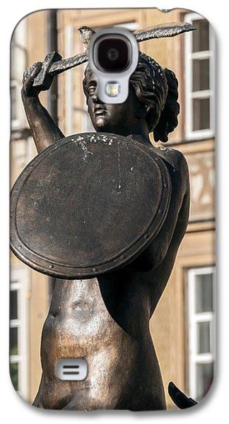Statue Portrait Galaxy S4 Cases - Mermaid statue in Warsaw. Galaxy S4 Case by Fernando Barozza