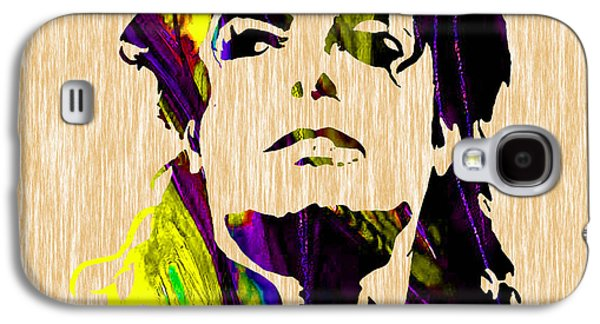 Michael Galaxy S4 Cases - Michael Jackson Painting Galaxy S4 Case by Marvin Blaine