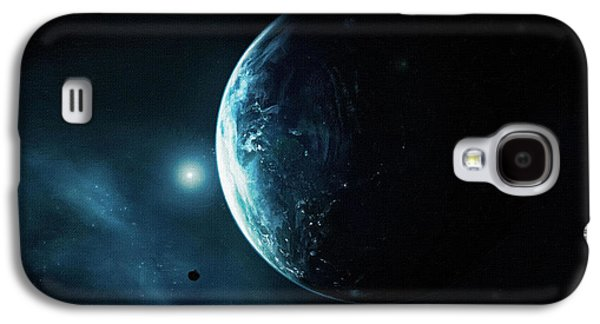 Screen Print Galaxy S4 Cases - Moonlight Poster Galaxy S4 Case by Victor Gladkiy