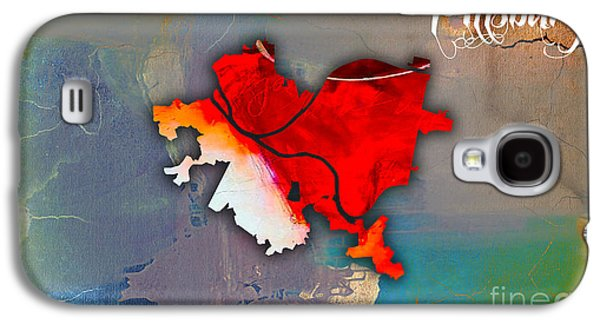 Pittsburgh Galaxy S4 Cases - Pittsburgh Map Watercolor Galaxy S4 Case by Marvin Blaine