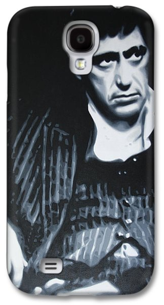 Michael Corleone Galaxy S4 Cases - Scarface Galaxy S4 Case by Luis Ludzska