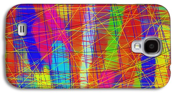 Abstract Digital Drawings Galaxy S4 Cases - Schreien Galaxy S4 Case by Sir Josef  Putsche