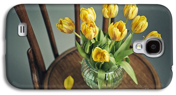 Decorative Photographs Galaxy S4 Cases - Still Life with Yellow Tulips Galaxy S4 Case by Nailia Schwarz