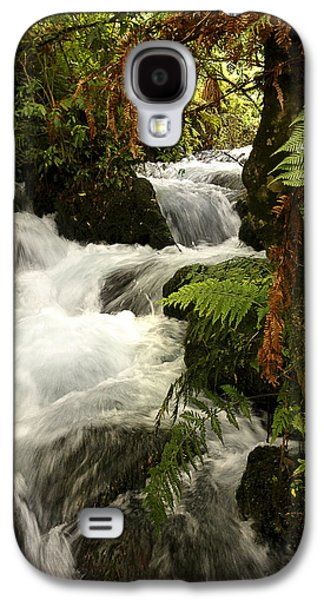 River Flooding Galaxy S4 Cases - Waterfall  Galaxy S4 Case by Les Cunliffe