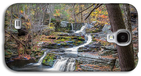 Tree Roots Galaxy S4 Cases - Waterfalls George W Childs National Park Painted   Galaxy S4 Case by Rich Franco