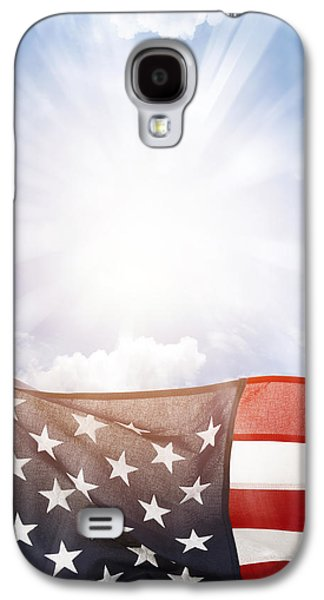 4th July Galaxy S4 Cases - American flag Galaxy S4 Case by Les Cunliffe