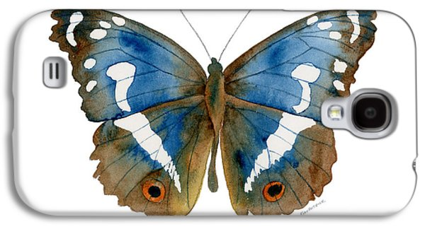 Moth Paintings Galaxy S4 Cases - 78 Apatura Iris Butterfly Galaxy S4 Case by Amy Kirkpatrick