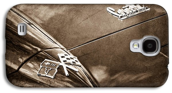 Transportation Photographs Galaxy S4 Cases - 1967 Chevrolet Corvette Hood Emblem Galaxy S4 Case by Jill Reger