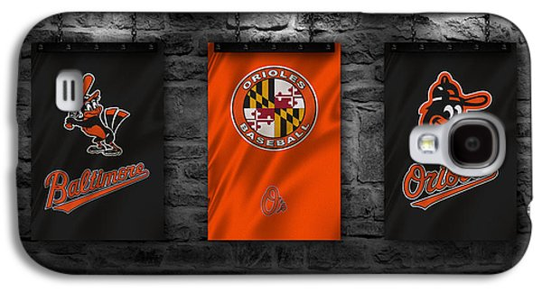 Baseball Uniform Galaxy S4 Cases - Baltimore Orioles Galaxy S4 Case by Joe Hamilton