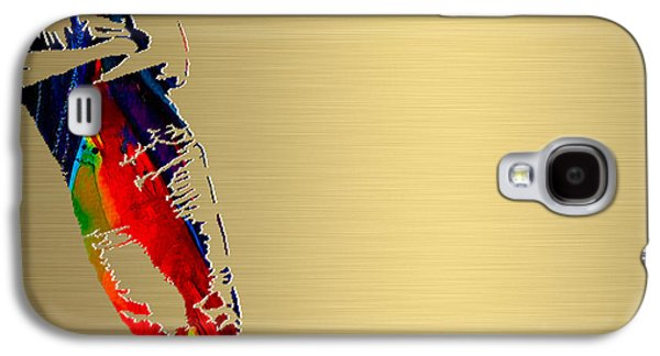 Bruce Springsteen Mixed Media Galaxy S4 Cases - Bruce Springsteen Gold Series Galaxy S4 Case by Marvin Blaine