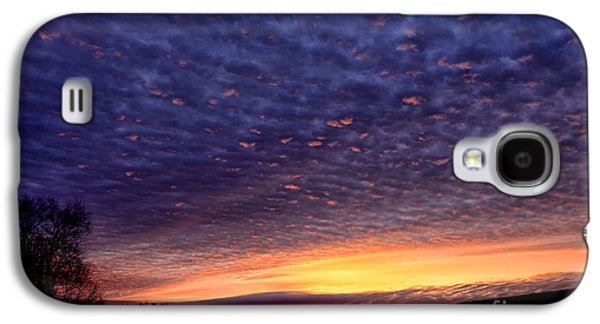 Colorful Cloud Formations Galaxy S4 Cases - Dawn of the Day Galaxy S4 Case by Thomas R Fletcher