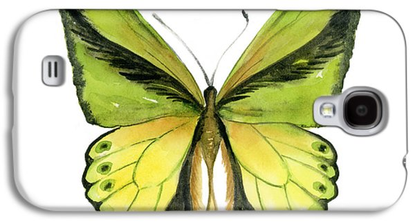 Green And Yellow Galaxy S4 Cases - 8 Goliath Birdwing Butterfly Galaxy S4 Case by Amy Kirkpatrick