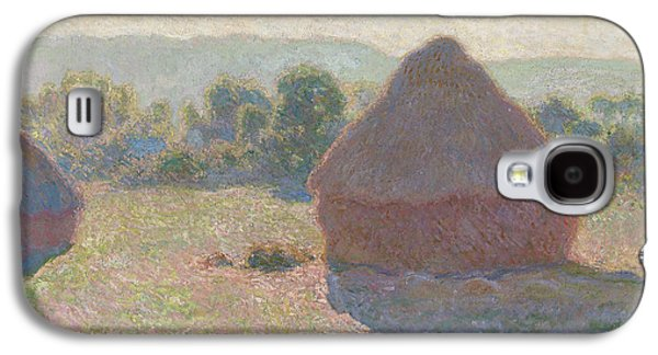 Midday Paintings Galaxy S4 Cases - Haystacks Galaxy S4 Case by Claude Monet