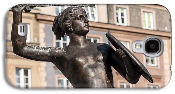 Statue Portrait Galaxy S4 Cases - Mermaid statue in Warsaw. Galaxy S4 Case by Fernando Barozza