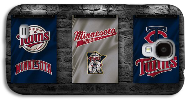 Baseball Uniform Galaxy S4 Cases - Minnesota Twins Galaxy S4 Case by Joe Hamilton