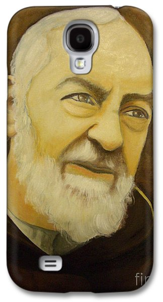 Etc. Paintings Galaxy S4 Cases - Padre Pio Galaxy S4 Case by Matteo TOTARO