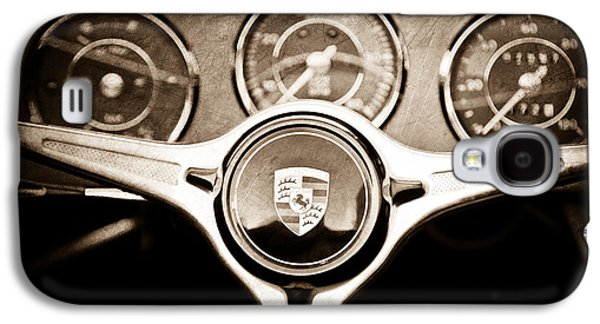 Transportation Photographs Galaxy S4 Cases - Porsche Steering Wheel Emblem Galaxy S4 Case by Jill Reger