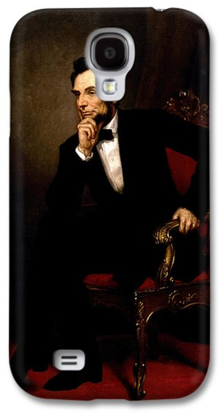 War Is Hell Store Mixed Media Galaxy S4 Cases - President Abraham Lincoln Galaxy S4 Case by George Peter Alexander Healy