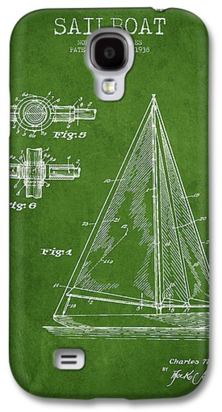 Sailboat Art Galaxy S4 Cases - Sailboat Patent Drawing From 1938 Galaxy S4 Case by Aged Pixel