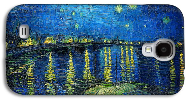 Starry Night Over The Rhone Galaxy S4 Case by Vincent van Gogh